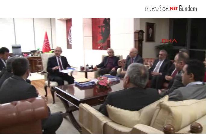 Alevi Dernekleri Temsilcileri ve Cemevi Yöneticileri, Kılıçdaroğlu'nu Ziyaret Etti