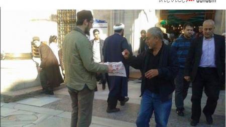 İstanbul, Fatih Camisi'nde Suriye'deki Alevi Katliamı Lokum Dağıtılarak Kutlandı
