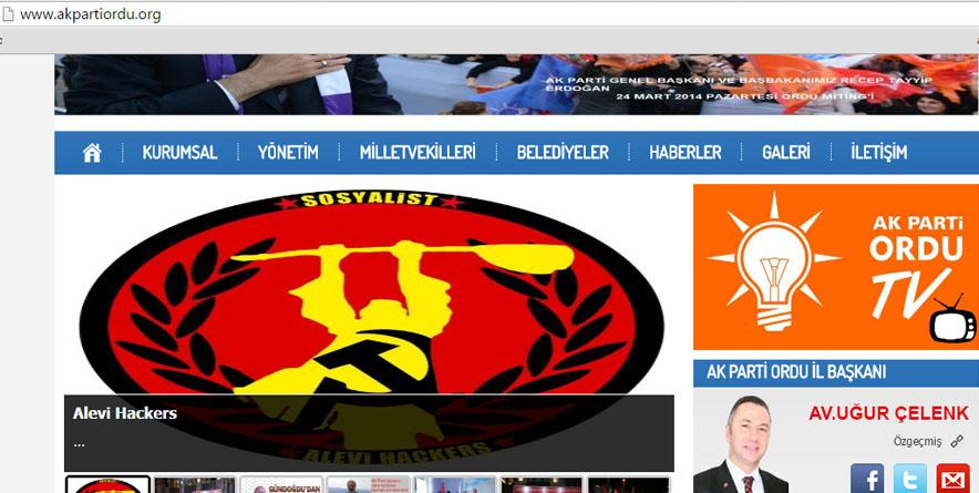 Alevi Hacktvisit Topluluğu'ndan AK Parti Ordu ve Denizli İl Başkanlıkları'na Eylem