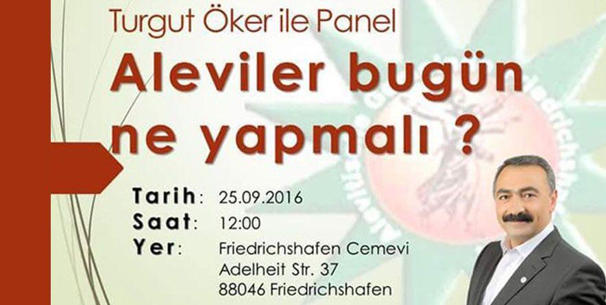 """Panel """"Aleviler Bugün Ne Yapmalı""""   25 Eylül 2016 Almanya"""