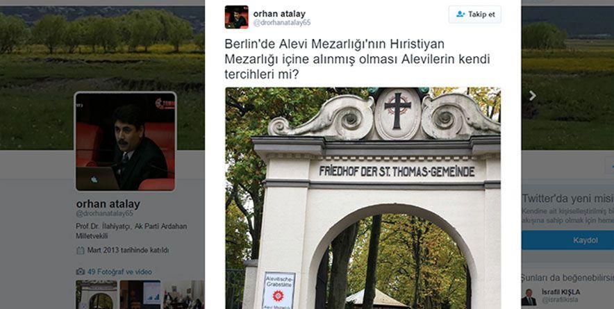 Akp Milletvekili Orhan Atalay'dan Mezhepçi Paylaşım