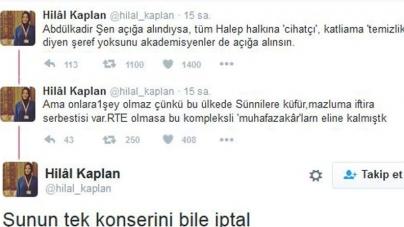 Alevilere Katliam Çağrısın Yapan Abdulkadir Şen'e Yandaş Hilal Kaplan Sahip Çıktı!