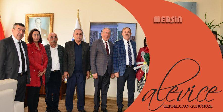 Mersin Cemevi heyetinden, Akdeniz Belediyesi'ne Destek Ziyareti | Mersin