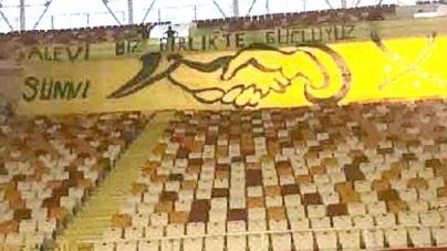 """Futbol Federasyonundan """"Alevi Sünni Biz Birlikte Güçlüyüz"""" Pankartına Engelleme"""